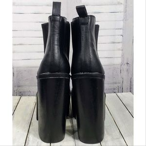 Destiny Shoes - Destiny Black Pleather Platform Booties